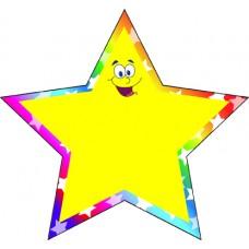 Figura Precortada Chica Estrella Arcoiris