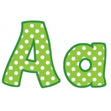 """Lime Polka Dots Funtastic 4"""" Letters"""
