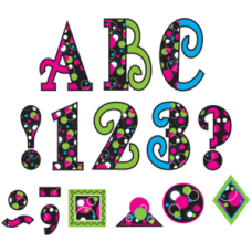 """Circle Frenzy 5"""" Uppercase Fancy Font Letters"""